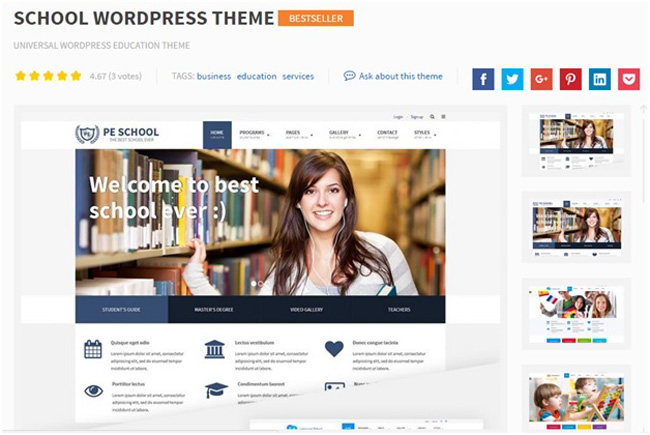 one of the most commonly used educational wordpress themes is school this superb premium theme is specially designed for universities schools and all