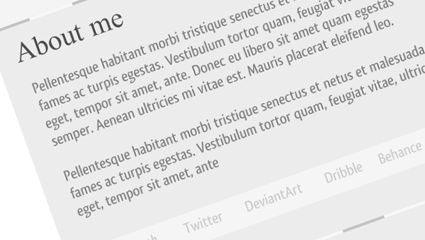 Single Page Portfolio Template - Free PSD - Cre8tive Nerd